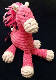 "Jellycat Cordy Pony Cordelia Pink Horse Soft Toy Jelly Kitten 10"" Corduroy Plush"