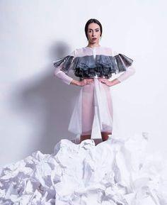 Giulia Tano 2014 graduation collection plastic experiment