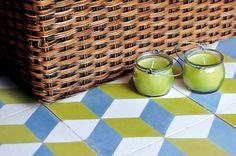 Cement floor tile: geometric pattern GEO UN 04 enticdesigns