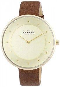 Skagen Damen-Armbanduhr Analog Quarz Leder SKW2138
