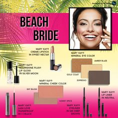 Are you planning a beach wedding this summer? Order your Beach Bride look with these Mary Kay products.