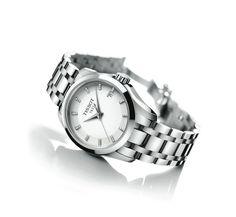 Catálogo de relojes Tissot para hombre y mujer: Tissot Couturier Lady en acero completo