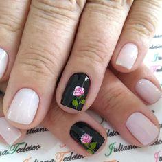Flower Nail Designs, Flower Nail Art, Cool Nail Designs, Nail Art Diy, Easy Nail Art, Stylish Nails, Trendy Nails, Fancy Nails, Cute Nails