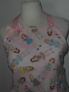 Plus Size Apron Paper doll Vintage Inspired Apron by uniquethings