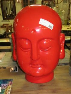 Red Buddha Head-  FIND this item in store...Now take 30% Off