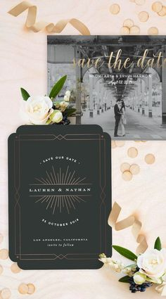 Blush, black, gold wedding invitations @minted http://rstyle.me/n/buxuxvn2bn