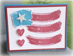 Stampin' Up! Work of Art, Fourth of July, Flag Details @ www.midmostamping.com