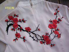 Аппликации цветы из ткани
