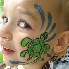 cheek face painting for kids | click on images below to enlarge
