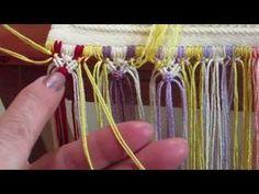 Videoaula 2 - Tranças de nós duplos - YouTube Wire Crafts, Diy And Crafts, Arts And Crafts, Crochet Daisy, Crafty Fox, Macrame Tutorial, Macrame Knots, Plant Hanger, Handicraft