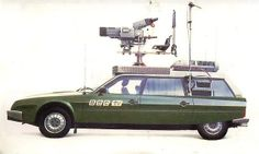 Citroen CX Safari - used by the BBC to film horse racing! Citroen Ds, Manx, Designer Automobile, Ambulance, Psa Peugeot, Space Car, Vintage Television, Cabriolet, Commercial Vehicle