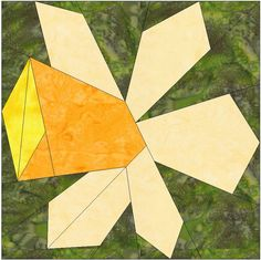Daffodil Paper Piece Foundation Quilting Block Pattern PDF by HumburgCreations on Etsy
