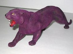 Vintage 1983 Mattel MOTU HE-MAN PANTHOR Purple Horde Suede Cat Vehicle