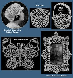 tatted rose doily | Handbook of Tatting c.1915 - Fabulous Pattern Book of Tatted Laces