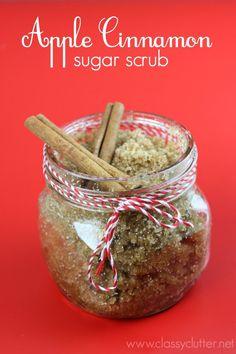 Apple Cinnamon Sugar Scrub that is amazing!!!! Click for tutorial