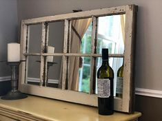 Rustic Upcycled mirror perfect for farmhouse style decorating Farmhouse Wall Mirrors, Wall Mirrors Entryway, Lighted Wall Mirror, Black Wall Mirror, Rustic Wall Mirrors, Living Room Mirrors, Mirror Bedroom, Mirror Set, Mirror Ideas