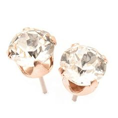 9a1cc24f8 pewterhooter Rose Gold Stud Earrings expertly Made with Sparkling Crystal  from Swarovski.: Amazon.co.uk: Jewellery