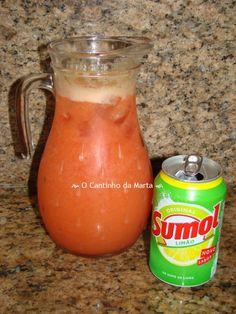 Refresco de Laranja, Morango e Sumol Limão
