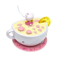 HELLO KITTY Digital AM/FM Clock Radio with Night Light ($22) ❤ liked on Polyvore featuring home, home decor, clocks, digital clock, hello kitty, hello kitty alarm clock, digital clock alarm and lcd clock