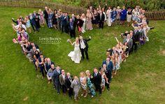 Heart shape group shot | Lewisbrownphotography