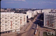 blocuri decorate cu drapelul sovietic