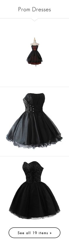 """Prom Dresses"" by thatdamnedllama ❤ liked on Polyvore featuring dresses, red and black corset, corset dress, sleeveless dress, goth corset, gothic clothing dresses, vestidos, short dress, holiday party cocktail dresses and night out dresses"