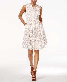 Maison Jules Printed Shirtdress, Only at Macy's - Dresses - Women - Macy's