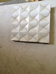Kitchen backsplash with counter slab love this modern Spanish  backsplash with cream white extra thick counters