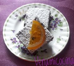 Brownie con Naranja y Nueces Brownies, Panna Cotta, Breakfast, Ethnic Recipes, Food, Orange, Cake Brownies, Morning Coffee, Dulce De Leche