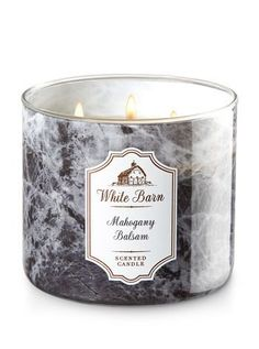 Bath and Body Works White Barn Scented Candle 3 Wick Mahogany Balsam 145 Ounce >>> Check out this great product. (This is an affiliate link)