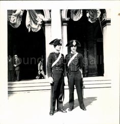Vintage Photo Black and White Two Carabinieri by foundphotogallery