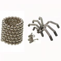 125pcs 5mm Buckyballs Neocube Magic Beads Magnetic Toy Silver.  Check this out at the Tmart link on MomTheShopper.