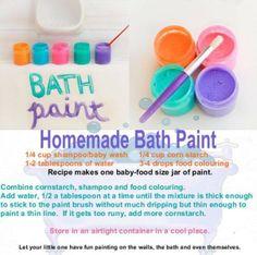 Kids activity-homemade bath paint