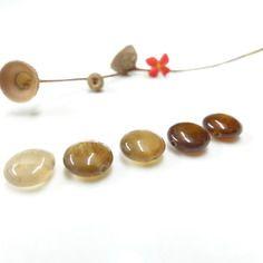 2 perles palet en agate naturelle  - 11 mm -