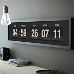 Personalised Vintage Flip Clock Print by THE DRIFTING BEAR CO. £55