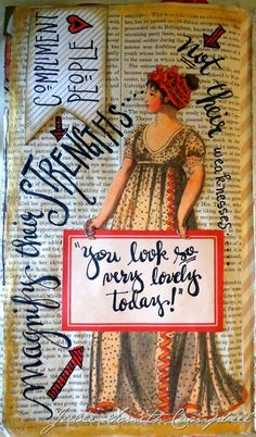 One of the reasons I love art journaling so much, I think, is that in doing it, I'm combining so many of the things I love… Collecting ( . Collage Art Mixed Media, Mixed Media Journal, Altered Books, Altered Art, Art Journal Pages, Art Journals, Journal Layout, Junk Journal, Glue Book