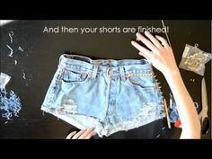 HOW TO: Make the perfect denim shorts with studs and spikes