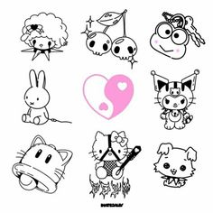 Cute Tattoos, Body Art Tattoos, Small Tattoos, Sleeve Tattoos, Tatoos, Serendipity Tattoo, Drawing Themes, Basic Hand Embroidery Stitches, Ascii Art