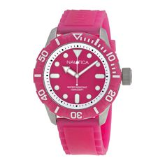Nautica Hot Pink Dial Hot Pink Silicone Rubber Unisex Watch A09607G. http://www.watchvendor.ca/nt-a09607g.html