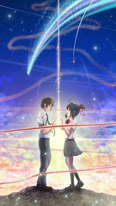 Couple Wallpaper Casal Kimi No Na Wa - Couple Anime Songs, Anime Music, Fanart, Studio Ghibli, Digimon, Mitsuha And Taki, Your Name Anime, Fantasy Anime, Tamako Love Story