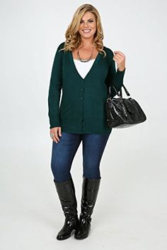 Plus Size Womens Dark Teal Super Soft Boyfriend Cardigan With Pockets Size 18 Green - See more at: http://jewelry.florentt.com/jewelry/plus-size-womens-dark-teal-super-soft-boyfriend-cardigan-with-pockets-size-18-green-com/
