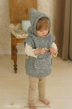 Baby Knitting Patterns This is knitting pattern for poncho Phoebe with a hood and p...