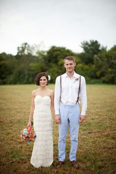 Eclectic modern backyard wedding | The Frosted Petticoat