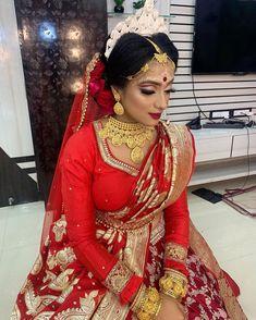 Bengali Bridal Makeup, Bride Book, Bride Makeup, India Beauty, Draping, Brides, Marriage, Indian, Artist