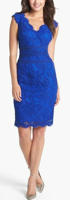 Totally would wear this!          Tadashi Shoji Embroidered Lace Sheath Dress