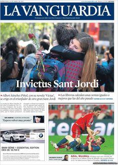 Los Titulares y Portadas de Noticias Destacadas Españolas del 24 de Abril de 2013 del Diario La Vanguardia ¿Que le parecio esta Portada de este Diario Español?