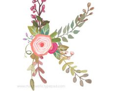 L lettre floral Print