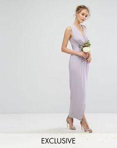 TFNC WEDDING Wrap Maxi Dress