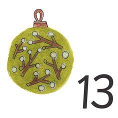 Joulukalenteri 2018 - Värinautit Christmas Bulbs, Holiday Decor, Christmas Light Bulbs