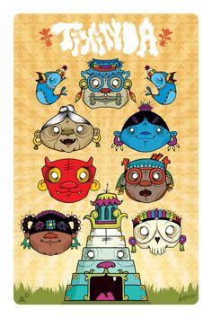 Poster Tixinda by Mostasho , via Behance